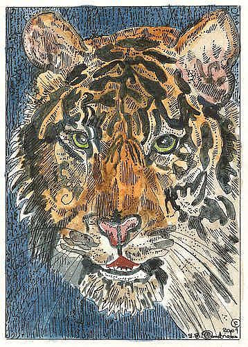 Art: TIGER by Artist Theodora Demetriades