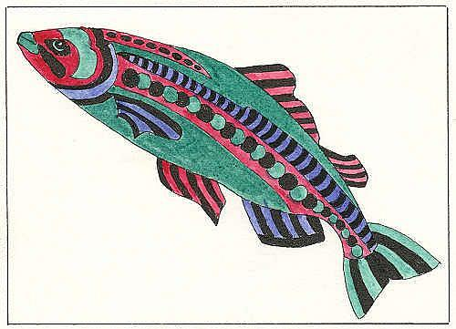 Art: FISH STORY ,TATTOO SAMPLE by Artist Theodora Demetriades