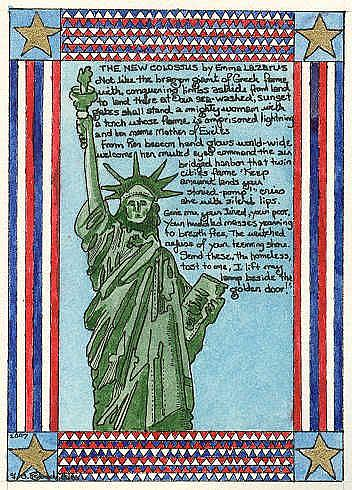 Art: The Statue of Liberty by Artist Theodora Demetriades