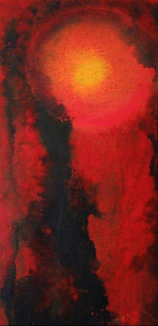 Art: FIRE IN THE SKY  (SOLD) by Artist Jaime Zatloukal Best