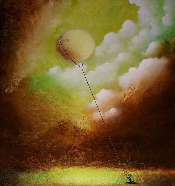 Art: Catching the Moon by Artist Jaime Zatloukal Best