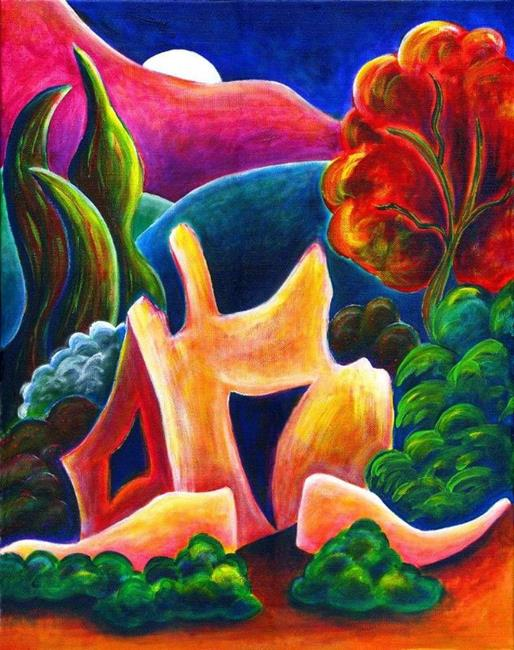 Art: La Garita Foothills by Artist Christine Wasankari