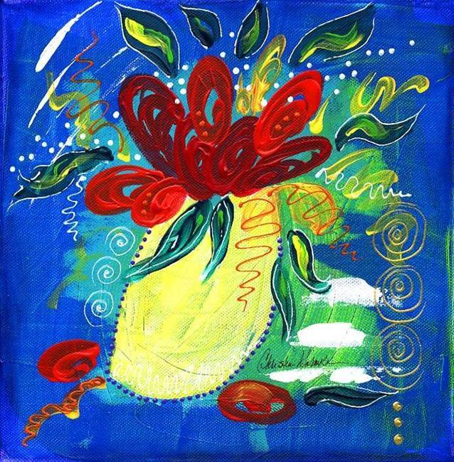 Art: Bistro Floral 1 by Artist Christine Wasankari