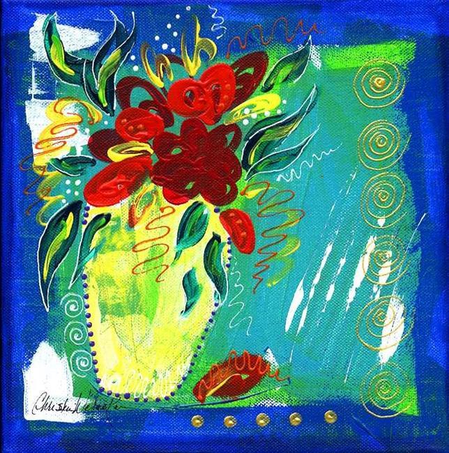 Art: Bistro Floral 3 by Artist Christine Wasankari