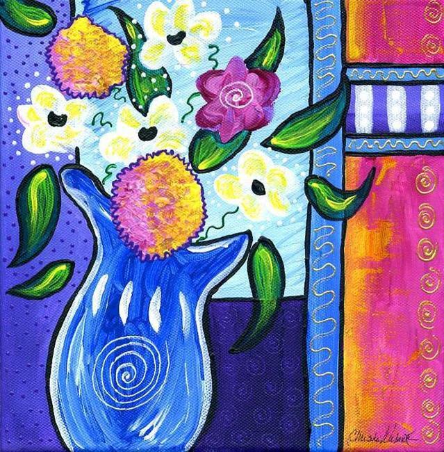 Art: Bistro Floral - Lavender by Artist Christine Wasankari