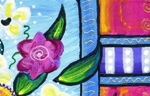 Detail Image for art Bistro Floral - Lavender