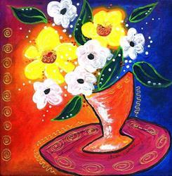 Art: Bistro Floral - Glow by Artist Christine Wasankari