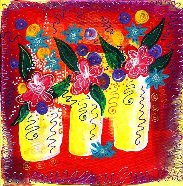Art: Bistro Florals ~ Celebrate by Artist Christine Wasankari