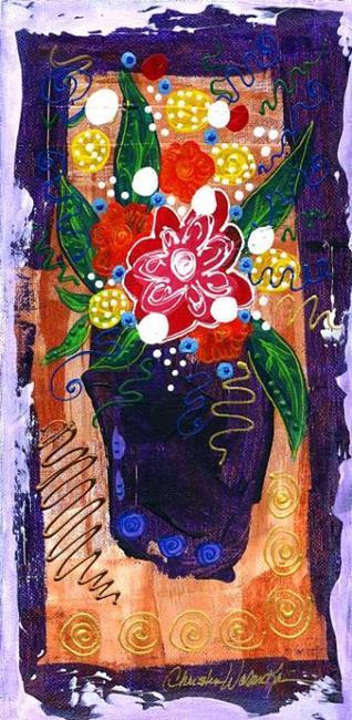 Art: Bistro Florals ~ 2 by Artist Christine Wasankari