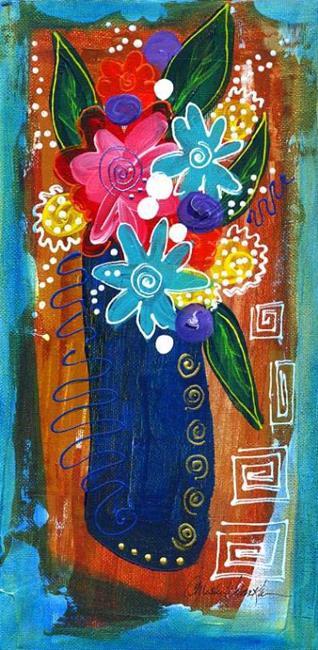 Art: Bistro Florals ~ 6 by Artist Christine Wasankari