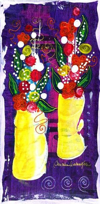 Art: Bistro Florals ~ 7 by Artist Christine Wasankari