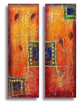 Art: Rain Forest 2~~From the Impressions Series by Artist Christine Wasankari