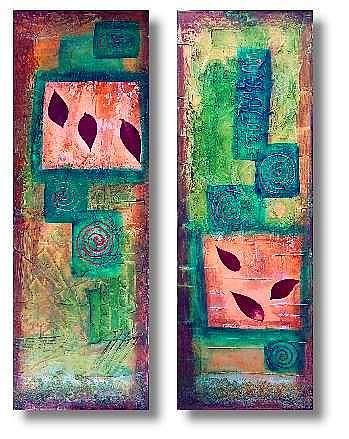 Art: Rain Forest -From the Impressions Series by Artist Christine Wasankari