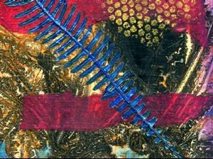 Detail Image for art Deer Fern Blue