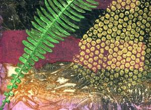 Detail Image for art Deer Fern Green
