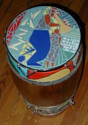Art: JAZZ CONGA DRUM TABLE by Artist Jen Thario
