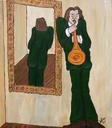 Art: Solo Reflection by Artist Jen Thario