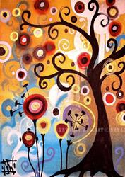 Art: June Tree by Artist Natasha Wescoat
