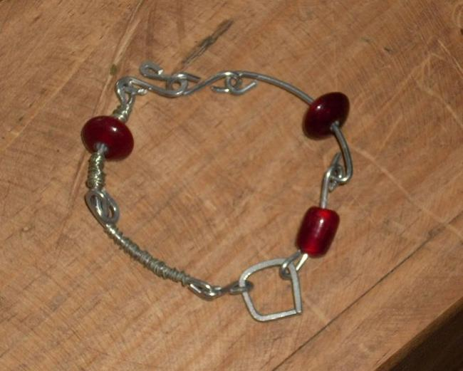 Art: Aluminum Bracelet by Artist Sherry Key