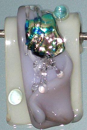 Art: Lampwork glass pendant by Artist Deborah Sprague