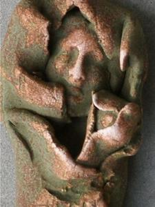 Detail Image for art Mother and Child brooch