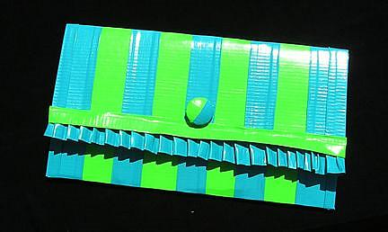 Art: Blue and Green Ruffle Clutch (SOLD) by Artist Alma Lee