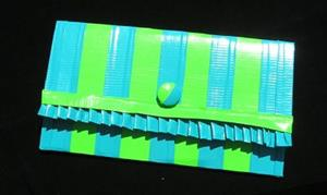Detail Image for art Blue and Green Ruffle Clutch (SOLD)