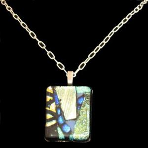 Detail Image for art Quilted Dichroic Pendant