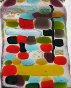 Detail Image for art Mosaic Fused Glass Pendant