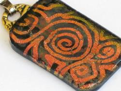 Art: Copper Swirl Pendant - sold by Artist Dorothy Edwards