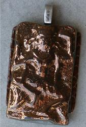 Art: Cambodian Goddess Pendant by Artist Deborah Sprague