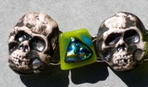 Detail Image for art Day of the Dead Bracelet