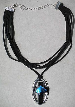 Art: Cross Necklace by Artist Deborah Sprague