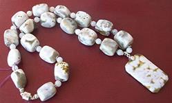 Art: Ocean Jasper necklace and Earring set by Artist Ulrike 'Ricky' Martin