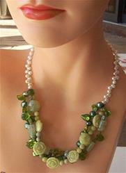 Art: Pearl and gemstone necklace by Artist Ulrike 'Ricky' Martin