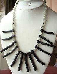 Art: Black and White Coral Necklace by Artist Ulrike 'Ricky' Martin