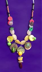 Art: Button Galore Necklace by Artist Alma Lee
