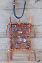 Art: Copper of the Orient Pendant by Artist Sherry Key