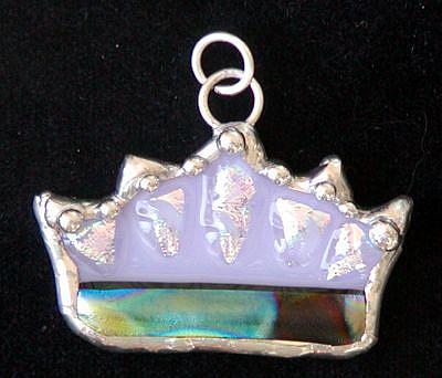 Art: Crown Pendant by Artist Dianne McGhee