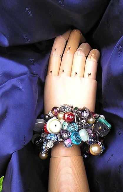 Art: Retro Cuff Steampunk Bracelet by Artist Alma Lee