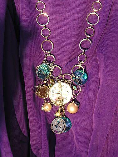 Art: Time of My Life necklace by Artist Alma Lee
