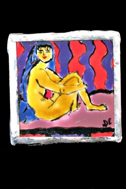 Art: Nude on Bed Pin by Artist Dorothy Edwards