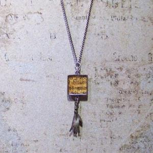 Detail Image for art Manuscript Milagro (hand) charm necklace