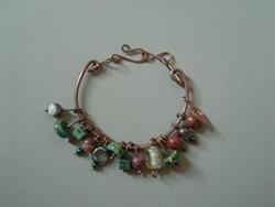Art: Copper Jasper/Jade Bracelet by Artist Sherry Key