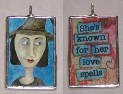 Art: Love Spell Witch by Artist Dianne McGhee