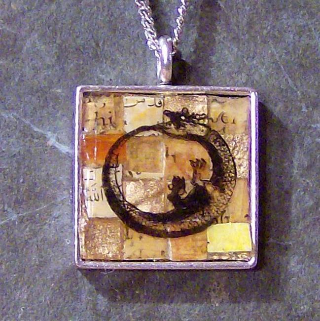Art: Alchemical Amulet - Ouroboros Pendant by Artist Aria Nadii