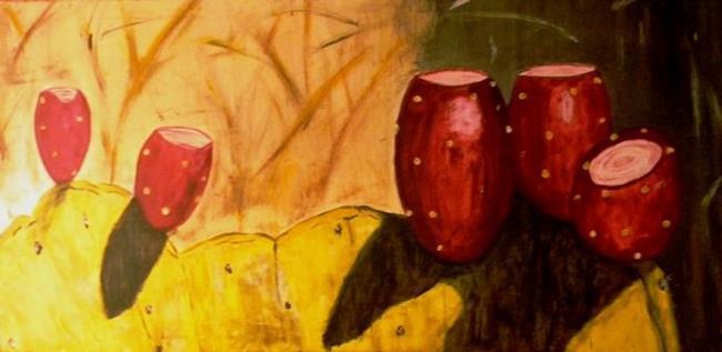 Art: Prickly Pear (Big Bend Nat'l Pk TX) by Artist John Fields