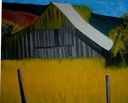 Art: barn by Artist John Fields