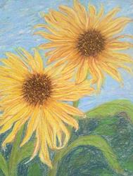 Art: Sunflowers I by Artist Julie Jules