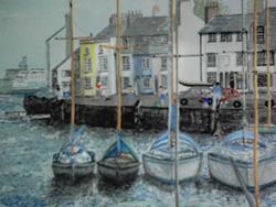 Art: WEYMOUTH HARBOUR, DORSET, UK - SOLD by Artist Julie Jules